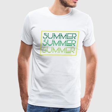 Summer - summer colors - beach - Men's Premium T-Shirt
