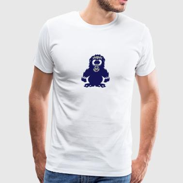 gorilla baby animals drawing 811 - Men's Premium T-Shirt