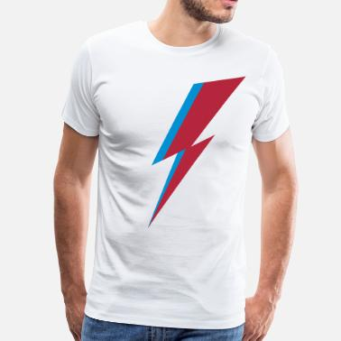 David Bowie Bowie Flash, Hero, Music, Blackstar, Rebel, Space - Men's Premium T-Shirt