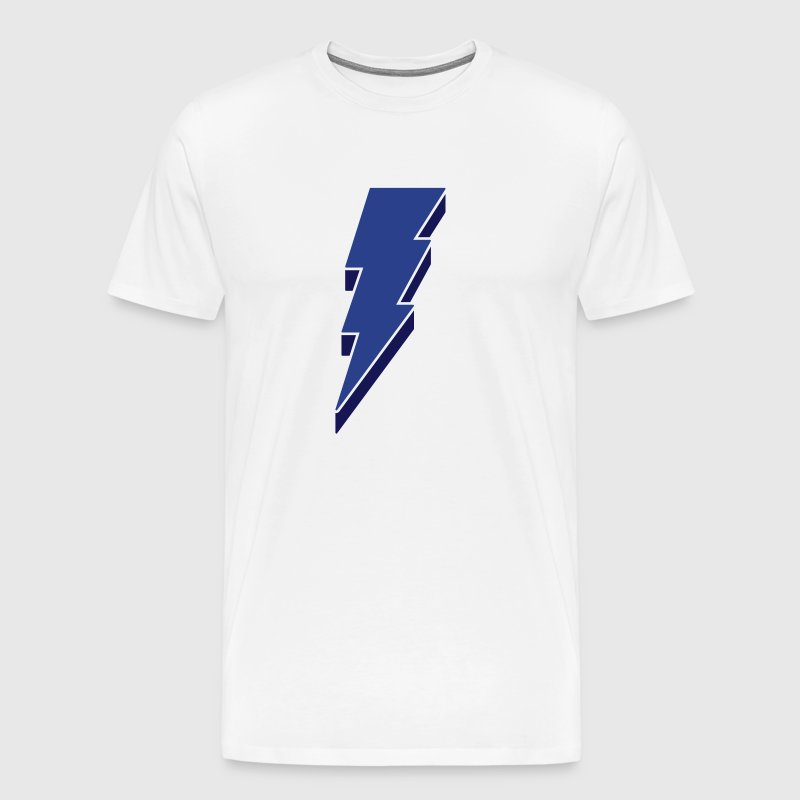 Lightning Bolt - 3D - Men's Premium T-Shirt