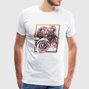 Portrait of Roses - Men's Premium T-Shirt