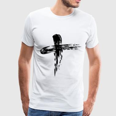 Jesus Christ ash cross - Men's Premium T-Shirt
