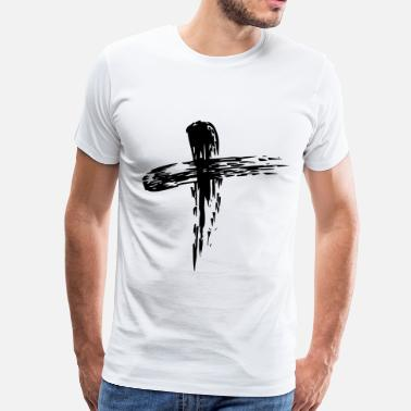 Ash Wednesday ash cross - Men's Premium T-Shirt