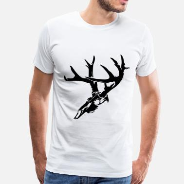 Skull Wildlife Deer Skull - Men's Premium T-Shirt