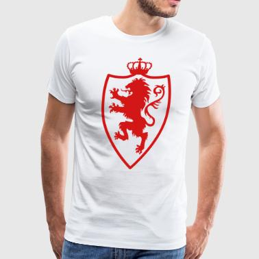 Lion Knight Shield wild heraldic animal King Crown - Men's Premium T-Shirt