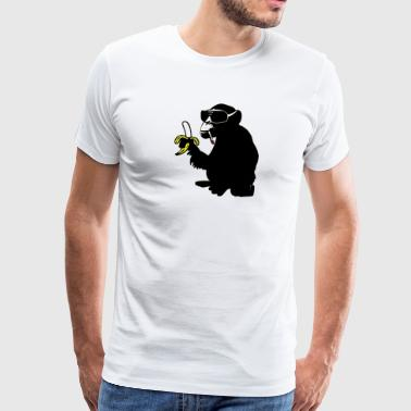 cool smoking monkey - Men's Premium T-Shirt