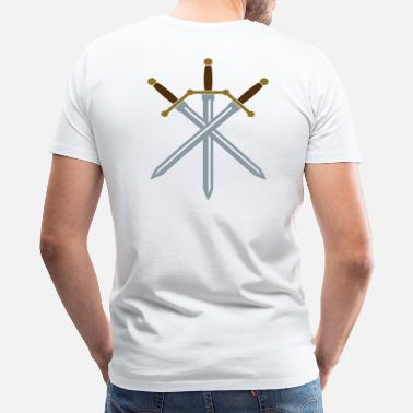 Cross Swords Sword Crossed - Men's Premium T-Shirt
