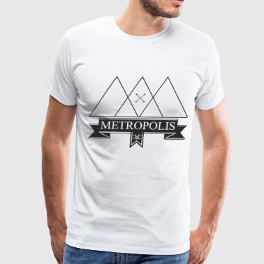 Metropolis White - Men's Premium T-Shirt