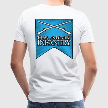 2nd Infantry Crossed Muskets - Men's Premium T-Shirt