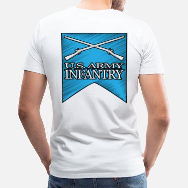 4th Infantry 4th Infantry Crossed Muskets - Men's Premium T-Shirt