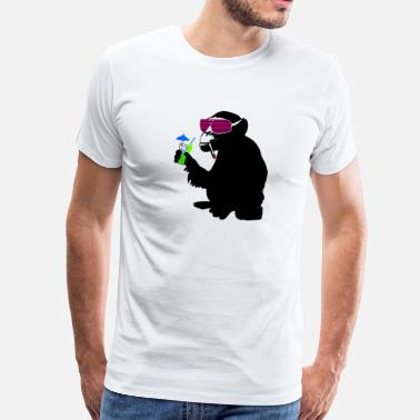 Bad Monkey Cartoon funky monkey - Men's Premium T-Shirt