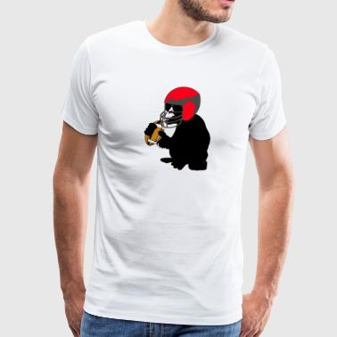 Fucking Monkeys football monkey - Men's Premium T-Shirt