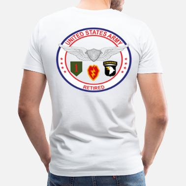 Us Army Seal US Army Retired - Men's Premium T-Shirt