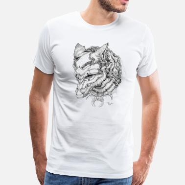 Pen Men's Premium T shirt of Coyote First Angry - Men's Premium T-Shirt