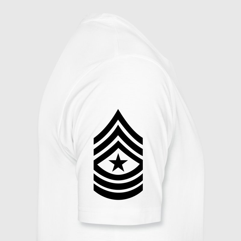 army rank patch sergeant major  - Men's Premium T-Shirt