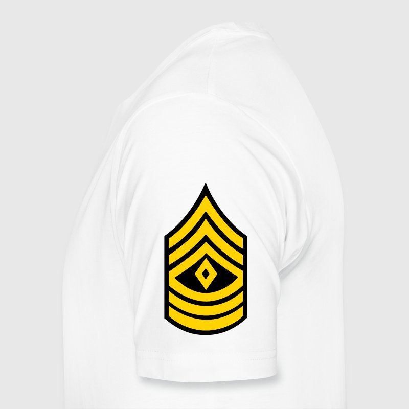 army rank first sergeant patch - Men's Premium T-Shirt