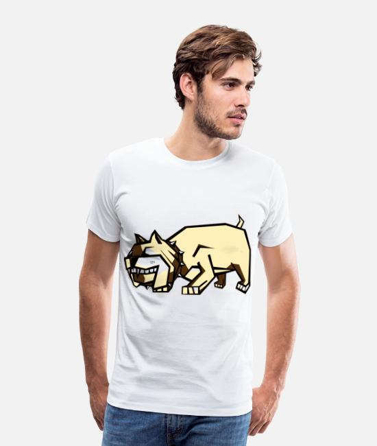 English T-Shirts - Bull Dog - Men's Premium T-Shirt white