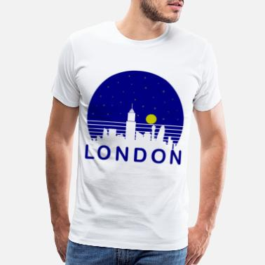 Britain London starry sky - Men's Premium T-Shirt