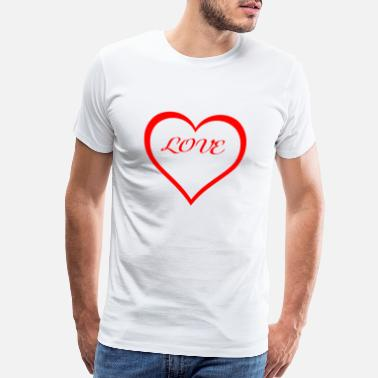 Half Couples half heart, love, a romantic gift - Men's Premium T-Shirt