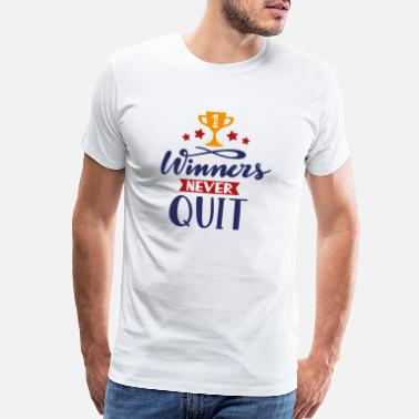 Rugby Winners nevers quit - Men's Premium T-Shirt