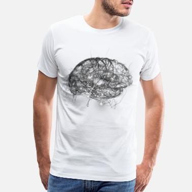 Brain Brain Illustration - Men's Premium T-Shirt