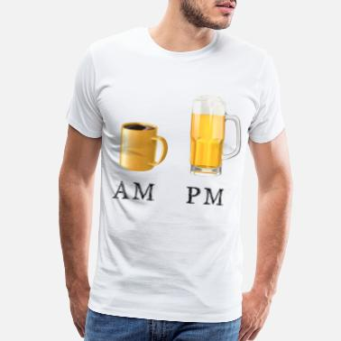 Pms AM PM Coffee and Beer - Men's Premium T-Shirt