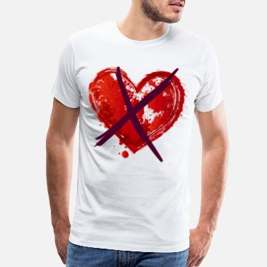 Proof Anti Valentine's Day - Crossed Heart - Men's Premium T-Shirt