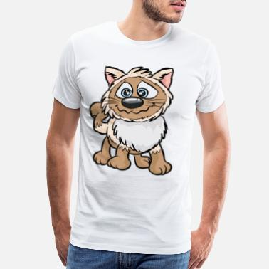 Feral Cats WEIRD CAT Crazy Mad funny Cartoon Comic Gift - Men's Premium T-Shirt