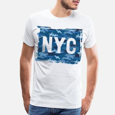 I Love Hiphop NYC Camouflage - Men's Premium T-Shirt