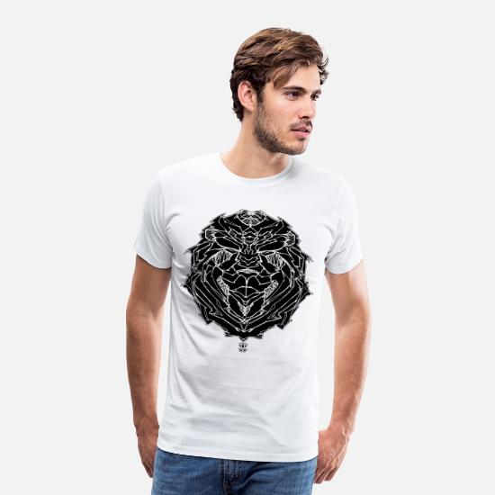 Art T-Shirts - RM LION2 - Men's Premium T-Shirt white