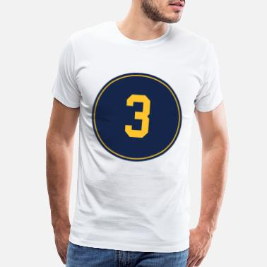Jersey Number Orlando Arcia Number 3 Jersey Milwaukee baseball t - Men's Premium T-Shirt