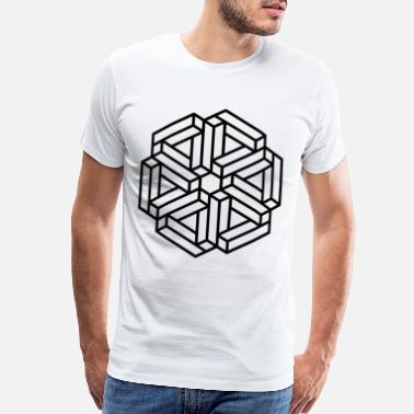 Blocked Optical Illusion Blocks - Men's Premium T-Shirt