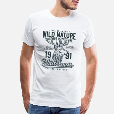 Bow Life Classic Wild Nature Wilderness - Born to be Wild - Men's Premium T-Shirt