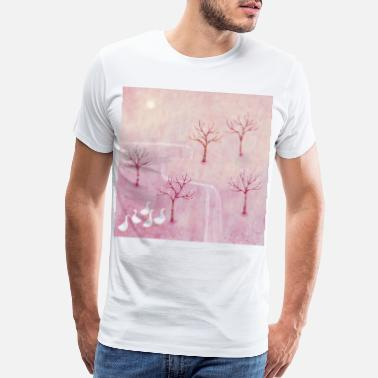 Orchard Geese in the Orchard - Men's Premium T-Shirt