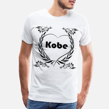 Crown-designs I love Kobe, City - Men's Premium T-Shirt
