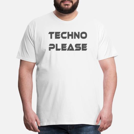 Techno Please Rave Music Dance electro underground Men's Premium T
