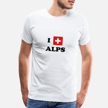Alps I Love Alps - Switzerland, Mountains, Swiss, CH - Men's Premium T-Shirt