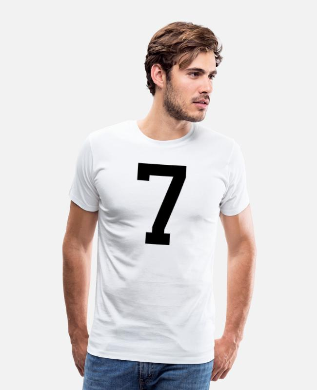 Sept T-Shirts - number 7 - Men's Premium T-Shirt white