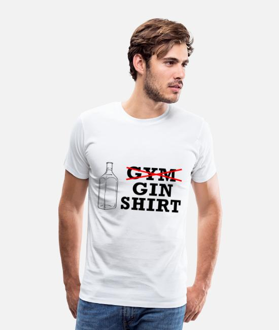 Alcohol T-Shirts - Gin Shirt - Men's Premium T-Shirt white
