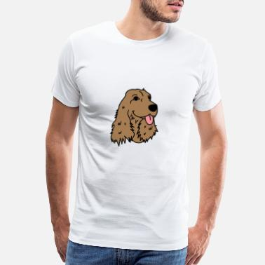English Cocker Spaniel cocker spaniiel Dog Puppy Doggie Present Gift - Men's Premium T-Shirt