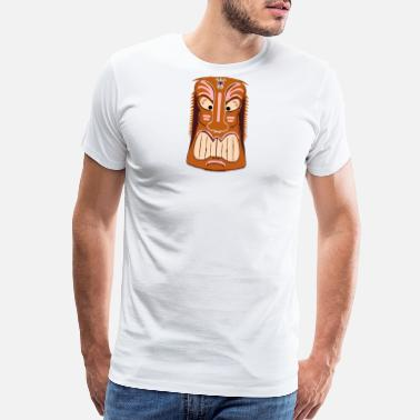 Maori Tiki Mask Graphic Art - Men's Premium T-Shirt