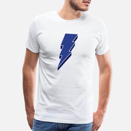 97aca0c1 Lightning Bolt - 3D Men's Premium T-Shirt | Spreadshirt