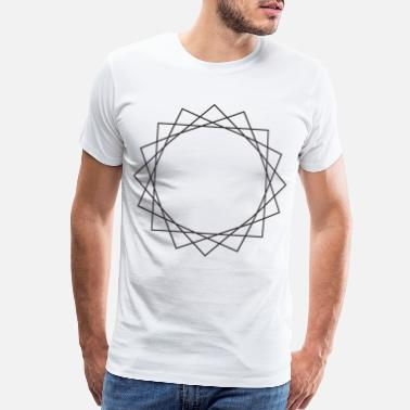 Layer Layered shapes symbols gift triangle hipster sign - Men's Premium T-Shirt