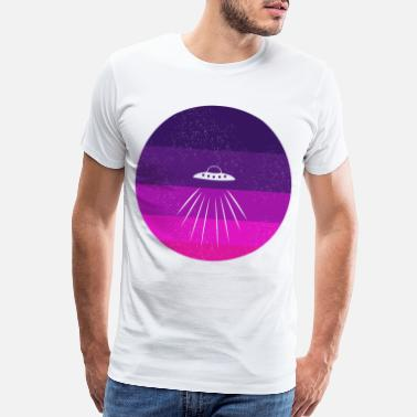 Astro UFO space gift moon astronomy stars universe sky - Men's Premium T-Shirt