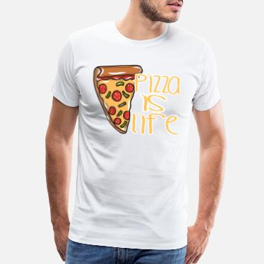 Funny Pizza Pizza food cheese - Men's Premium T-Shirt
