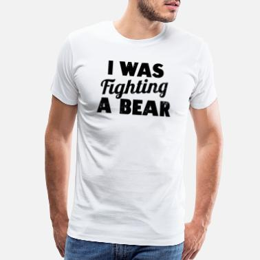 Handicap Funny Wheelchair Was Fighting A Bear Gift - Men's Premium T-Shirt