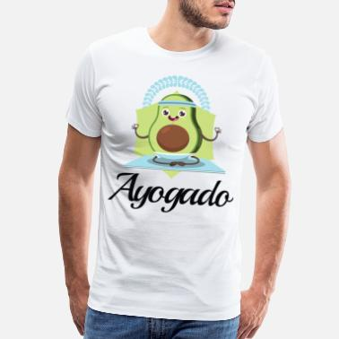 Breathe Yoga Ayogado | Yoga Avocado - Men's Premium T-Shirt