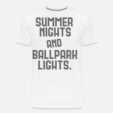 28baa3e9e1fc SUMMER NIGHTS BALLPARK LIGHTS Men s T-Shirt