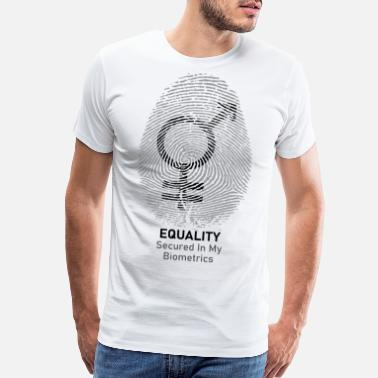 Gay Pride Equality - Secured In My Bio-Metrics - Men's Premium T-Shirt