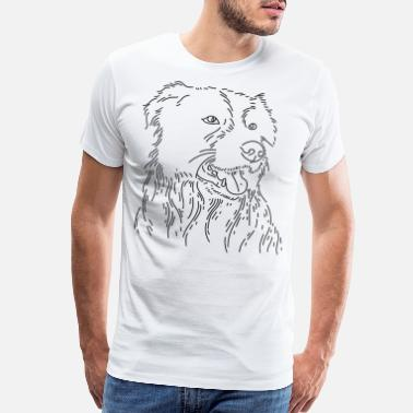 Dog sketch - Men's Premium T-Shirt